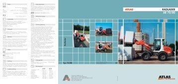 Technische Daten Prospekt AR 70 68 PS - ATLAS Hydraulikbagger