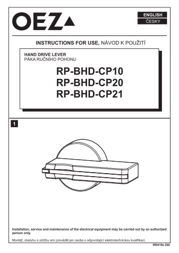 RP-BHD-CP10 RP-BHD-CP20 RP-BHD-CP21