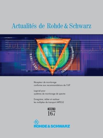 Actualités de Rohde & Schwarz
