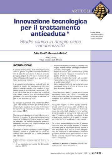 Studio clinico fiale 2012 - Bioscalin