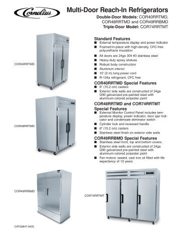 Multi-Door Reach-In Refrigerators