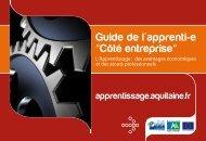 """Guide de l'apprenti-e """"Côté entreprise"""" - Conseil Régional d'Aquitaine"""