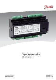 Capacity controller EKC 531D1 Manual