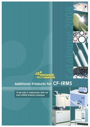 IRMS catalogue innards.qxd - Spectra 2000 Srl