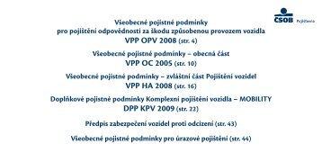 Všeobecné pojistné podmínky - Sfinance.cz