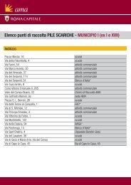 Elenco punti di raccolta PILE SCARICHE - MUNICIPIO I (ex I ... - Ama