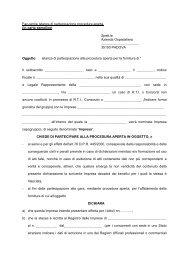 Allegato 2 istanza di partecipazione Roberto - Azienda Ospedaliera ...