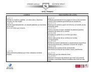 NIVEL PRIMERO LOGROS INDICADORES DE LOGRO LLC1.1 ...