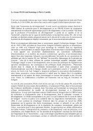 Le réseau IPAM rend hommage à Pierre Castella C'est avec ... - Crid