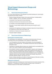 Appendix X - Scope and Methodology for Visual Impact Assessment