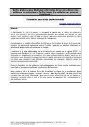 Formation aux écrits professionnels - Agence Nationale de Lutte ...