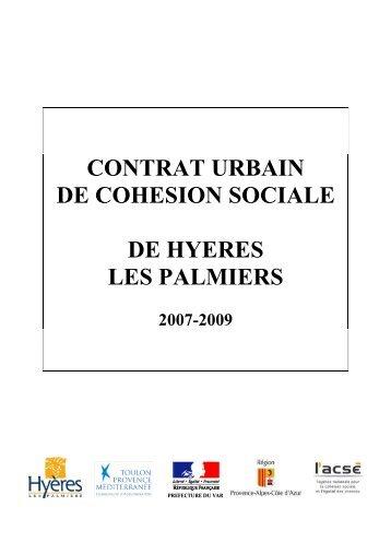 contrat urbain de cohesion sociale de hyeres les ... - CRPV-PACA