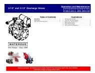 Sec. 2311, Discharge Valves Operation Iand ... - Waterous