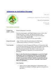 Animateur en Agriculture Paysanne - Réseau wallon de ...