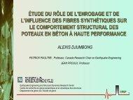 étude du rôle de l'enrobage et de l'influence des fibres synthétiques ...