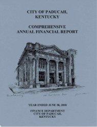 CAFR June 30, 2008.pdf - City of Paducah
