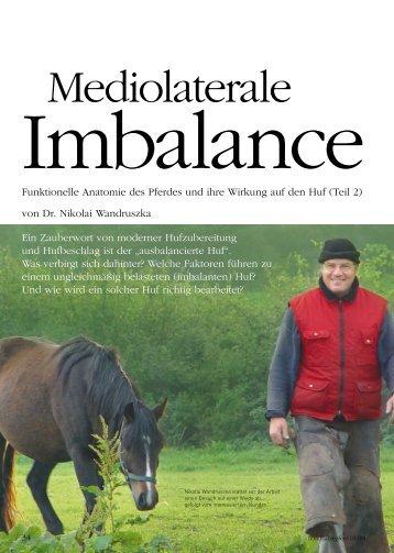 Funktionelle Anatomie des Pferdes und ihre Wirkung auf den Huf ...
