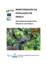 monitorização da população de priolo relatório ... - LIFE Priolo - spea