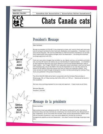 Chats Canada cats - l'Association félin Canadienne
