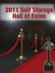 2011 Self Storage Hall of Fame - Self Storage Association Globe