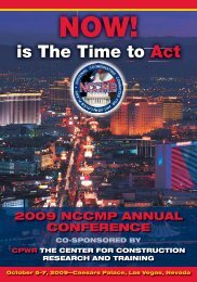 is The Time to Act - NCCMP