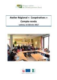 Atelier Régional « Coopératives - Réseau wallon de ...