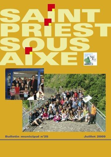Juillet 2009 Bulletin municipal n°25 - Saint-Priest-sous-Aixe