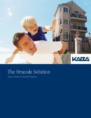 Oracode 660K Brochure - Oracode Electronic Keyless Door Locks ...