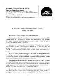 Proces verbal AGA al membrilor ARAIEX din data de 19 octombrie ...