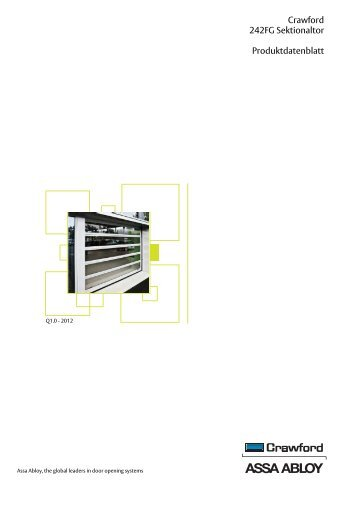 Crawford 242FG Sektionaltor Produktdatenblatt - Crawford hafa GmbH