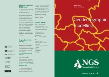 Geodemographic modelling - National Grid Service (NGS)
