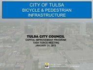 Bike and Pedestrian - The City of Tulsa Online