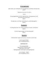 Vorspeisen Suppen Salate - Pauliner Hof