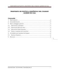 propuesta de política lingüística del colegio alemán de cali