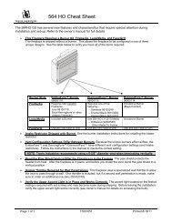 564 HO Cheat Sheet - Travis Industries Dealer Services Login Page
