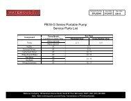SPL82945, PB18G Series Service Parts List - Waterous