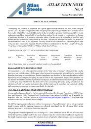 ATLAS TECH NOTE No. 6 - Atlas Steels