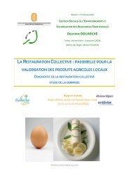 Diagnostic Restauration Collective - Syndicat Mixte Ardèche Verte