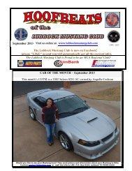 September Newsletter - Lubbock Mustang Club