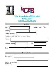 fiche inscription adulte - Ville de Bergerac