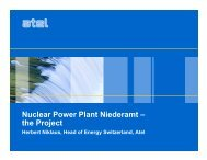 Nuclear Power Plant Niederamt – the Project