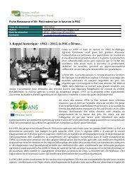 1. Rappel historique : 1962 – 2012, la PAC a 50 ans…