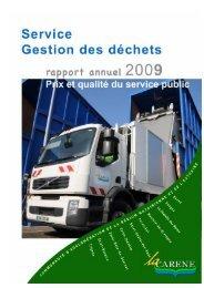 CARENE Gestion des Déchets Rapport Annuel Prix ... - La Carène
