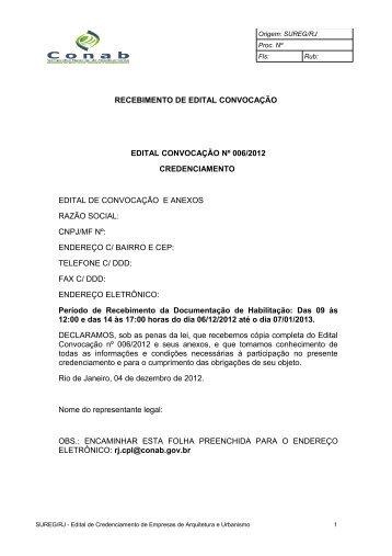 EDITAL DE CREDENCIAMENTO - Conab