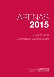 Rapport de la commission grandes salles - Association des maires ...