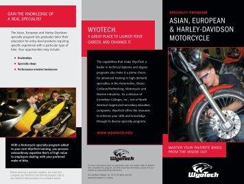 asian, european & harley-davidson motorcycle - WyoTech Tour