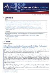 gvh n° 960 - Association des maires de grandes villes de France