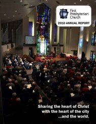 Sharing the heart of Christ with the heart - First Presbyterian Church