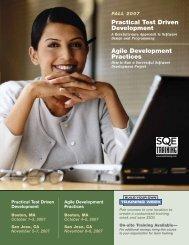 Practical Test Driven Development Agile Development ... - SQE.com
