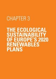 the ecological sustainability of europe's 2020 renewables ... - spea.pt